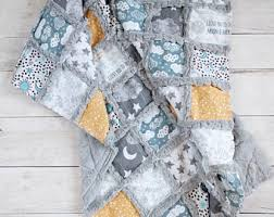Moon And Stars Crib Bedding Gender Neutral Thecuddlyquilt