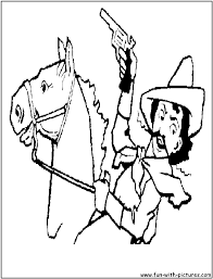 cowboy coloring pages far west icons online coloring pagesfun