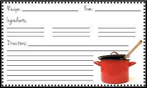 free fillable recipe card template
