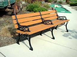 Curved Outdoor Benches Alluring Outdoor Bench Design With Classic Black Steel Curved