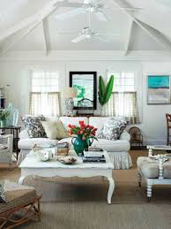 Cottage Style Living Rooms by Unique Curtains Bathroom Window Coverings Ideas Beach Cottage