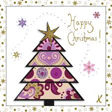 purple christmas tree k art by kim