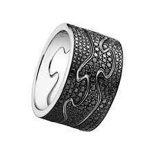 georg jensen fusion ring with pave black diamonds love it my