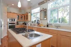 All In One Kitchen Sink And Cabinet by Traditional Kitchen With Flat Panel Cabinets U0026 Pendant Light In