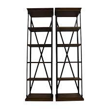 47 off brennon brennon five shelf rustic wood bookshelves storage