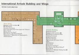 jfk international arrivals building guide u0026 airport map 7 1973