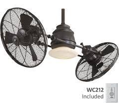 dual fan ceiling fan minka aire f802 orb vintage gyro 42quot oil rubbed bronze ceiling