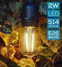 Outdoor String Lights Patio Hyperikon Led Commercial String Lights 48ft Outdoor String Light
