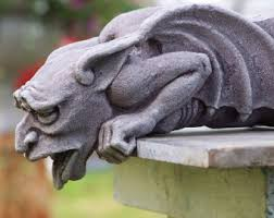 gargoyles green cast sculpture by castshadows on etsy
