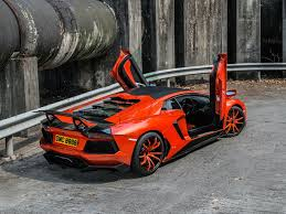 red orange cars photo lamborghini 0 4 molto veloce luxury orange cars back view