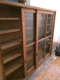Kitchen Cabinets Display Glass Front Wooden Sliding Doors Ex Book Display