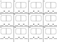 10 best images of domino addition worksheet blank domino