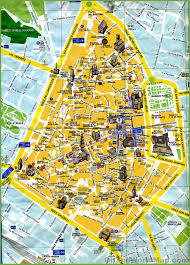 Map Of Genoa Italy by Lecce Tourist Map