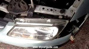nissan almera 2002 nissan almera headlight replacement youtube