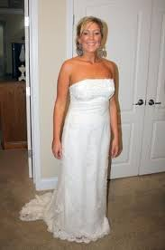 candlelight colored dress ivory or white veil weddings