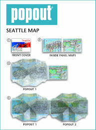 Greater Seattle Area Map by Seattle Popout Map Popout Maps Popout Maps 0711600301762