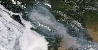 Wildfire Bc Whistler by Here U0027s What The Wildfire Smoke Over Bc Looks Like From Space Right