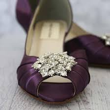 Wedding Shoes Peep Toe Plum Kitten Heel Peep Toe Wedding Shoes With Classic Cluster