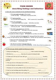 22 free esl food idioms worksheets