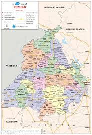 India Maps by Punjab Travel Map Punjab State Map With Districts Cities Towns