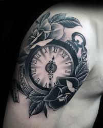 Black Rose Flower 50 Traditional Rose Tattoo Designs For Men Flower Ink Ideas
