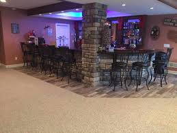 foundation stained beautiful home bar with irish pub appeal veneer