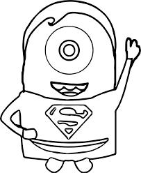 minions superman coloring wecoloringpage