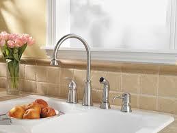 Faucet And Soap Dispenser Placement Antique Kitchen Faucet With Soap Dispenser Centerset Two Handle