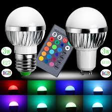 new rgb led bulb gu10 e24 3w led l light led spotlight spot