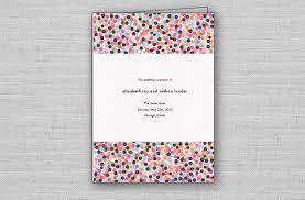 wedding program cover confetti chic wedding ceremony programs from moment