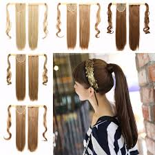 Sticker Hair Extensions by Wrap Around Clip In Magic Paste Ponytail Hair Extensions Long