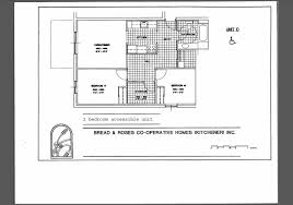 Wheelchair Accessible Floor Plans Bread And Roses Co Operative Homes Kitchener Waterloo Ontario