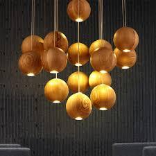 Wooden Chandeliers Lighting Aliexpress Buy Modern Wooden L Wood Chandelier Led