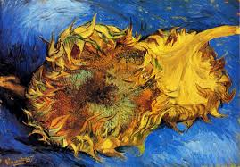 van gogh two cut sunflowers 1887 with description art vangogh com two cut sunflowers oil on canvas 43 2 x 61 0 cm paris august september 1887 new york the metropolitan museum of art