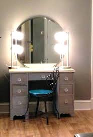 makeup vanity set with lighted mirror vanity desk with lighted