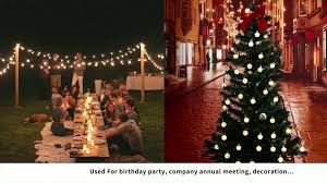 solar led christmas lights outdoor waterproof 22ft 30 led crystal ball solar led christmas lights