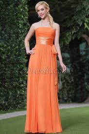 robes soirã e mariage robe de soirée bustier orange coupe simple élégante c00119210