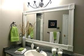 bathroom mirror trim ideas mirror trim ideas photo 2 of bathroom ideas 2 barn wood trim ideas