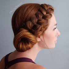parting hair when braiding a ball side updos that are in trend 40 best bun hairstyles for 2018