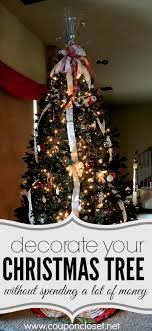 how to decorate a tree on a budget coupon closet