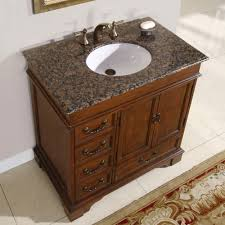 Ashley Bathroom Vanity Single Sink Cabinet English Chestnut - Elements 36 inch granite top single sink bathroom vanity