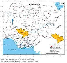 Nigeria State Map by Performance Assessment Of Lokoja Confluence Beach As A Tourist