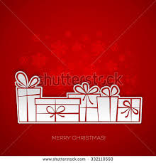 merry christmas gift card paper design stock vector 229726702