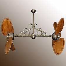 Twin Ceiling Fan by Twin Star Iii Double Ceiling Fan Antique Brass With Many Blade