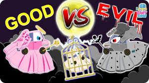 angel car war good vs evil car videos for kids halloween