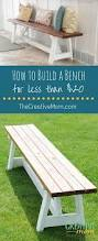 Diy Wooden Storage Bench by Best 25 Build A Bench Ideas On Pinterest Diy Wood Bench Bench