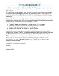Cover Letter Example For Students Best Aircraft Mechanic Cover Letter Examples Livecareer