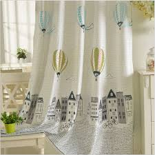 polyester cotton curtains for children korean style window