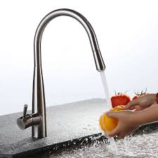 kitchen faucet nickel expensive pullout brushed nickel rotatable kitchen faucet