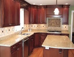 Rustic Kitchen Countertops - traditional oak kitchens cool cream melamine countertop tucked